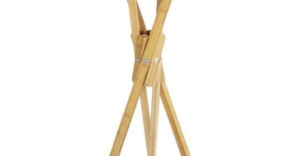 Standgarderobe mikado bambus holz 170cm wenko bambus for Standgarderobe holz