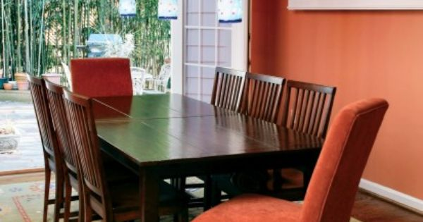 Pumpkin Spice 126 Used In This Dining Room Benjaminmoore Benjamin Moore Paint Pinterest