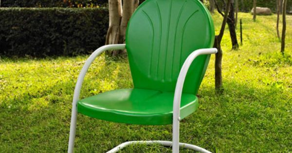 Crosley Furniture Griffith Metal Chair In Grasshopper Green Finish Co1001a Gr Metal Outdoor Furniture Metal Patio Chairs Metal Outdoor Chairs
