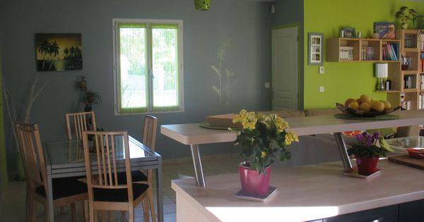 Img 6275 salon s jour salle a manger pinterest for Chaise salle a manger vert anis