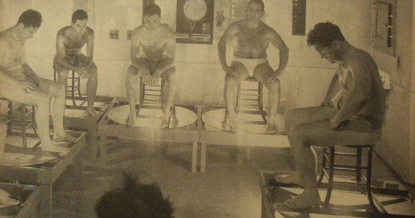 S men steam room vintage gyms of yesteryear