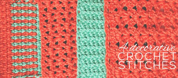 4 Decorative Crochet Stitches For You To Try Crochet