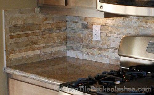 Stone backsplash ideas for kitchen kitchen tile for Vinyl wallpaper backsplash