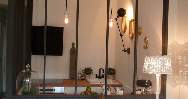 S paration id ale entre la cuisine et le salon id e for Fenetre entre cuisine et salon