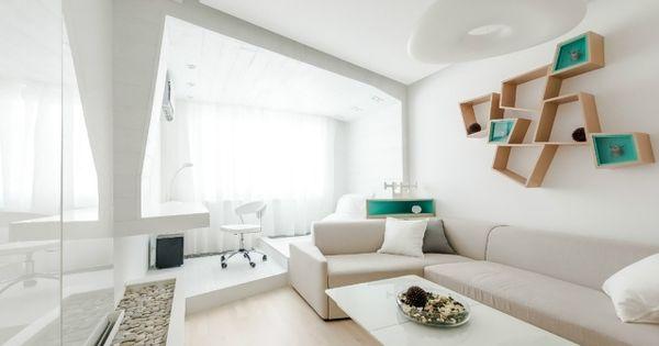Wohnzimmer Modern Einrichten Kleiner Raum Weiß Creme Türkis ... Wohnzimmer Weis Creme