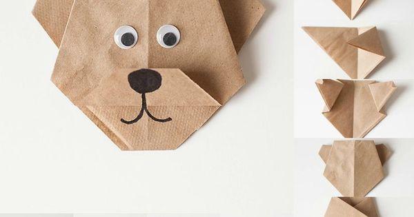Origami facile 100 animaux fleurs en papier et d co maison pliage de papier origami facile - Pliage serviette ourson ...