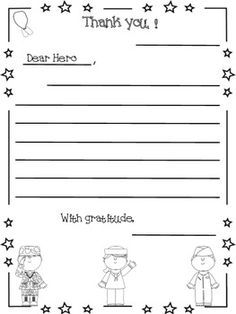 A Letter To A Hero Veteran S Day Veterans Day Activities