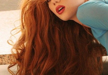#hair hairstyle red redhair longhair curls curlyhair style inspiration