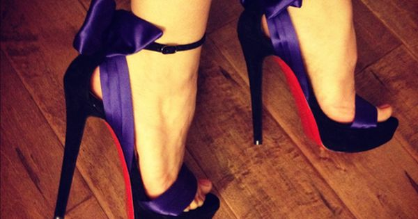So Cheap!! $115 Christian Louboutin Shoes #Christian #Louboutin #Shoes discount site!!Check it out!! Christian Louboutin Shoes, CL Boots, Red Bottom Shoes, Red High Heels | See more about Purple Satin, Satin Bows and Purple.
