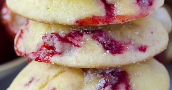 Cream Cheese Strawberry Cookies With White Chocolate Chunks -**** Left out white chocolate and increased the strawberries - Good choice, chocolate would overpower the strawberries. Makes a small batch so I doubled it. Think I could add strawberries to som...