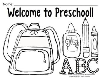 Coloring Pages For Back To School Pre K 1 Classrooms Welcome