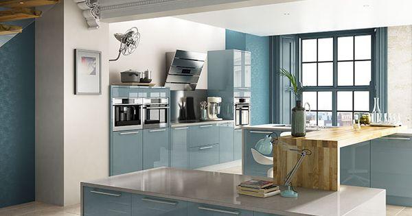 Esker Azure Gloss Kitchen Wickes Co Uk Alpha Remodel