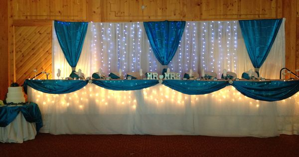 Head Table Lite Up with Lights and Themed Blue | The Grand ...
