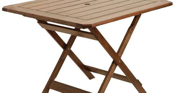 Mesa madera plegable interior exterior bares oferta - Mesas plegables exterior ...