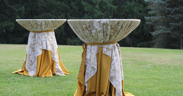 Gold And Lace Cocktail High Top Tables Linen Ideas