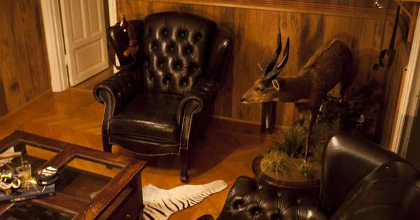 Man Cave Accessories South Africa : Man cave style wood wainscoting with tartan wallpaper