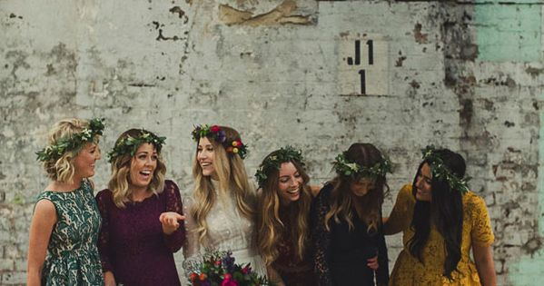 *********i love all their different but same lacey bridesmaids dresses! & the