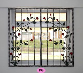 Wrought Iron Window Grilles With Images Iron Window Grill
