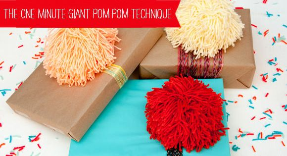 The 60 Second Giant Pom Pom Technique by Handmade Charlotte