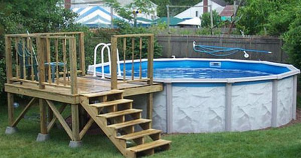 Pool Deck Ideas step 4 setting piers and posts Above Ground Pool Deck Plans Pool Deck Plans Pool Deck Plans 03