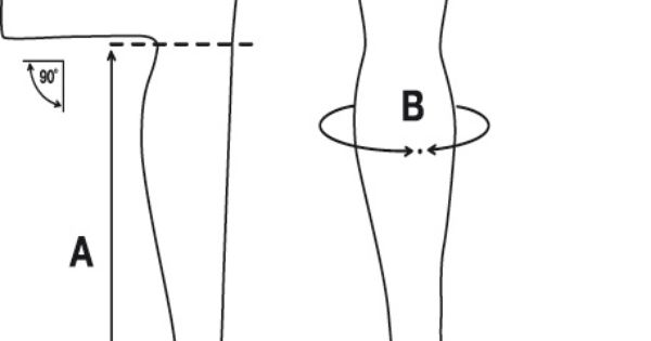 measuring the height of boots