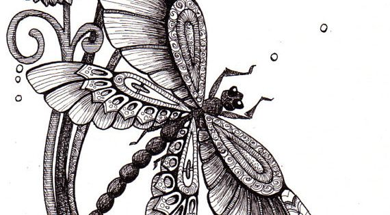 @Amber Ridinger Fly Away. Beautiful and original whimsical abstract psychedelic stylised Ink