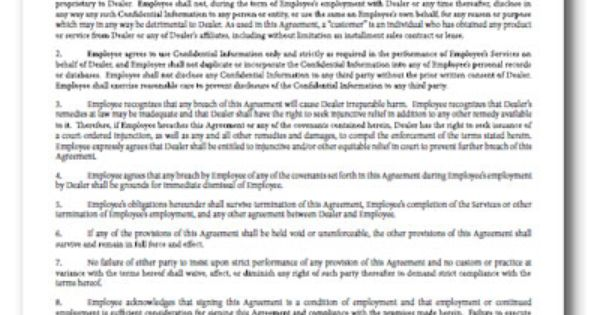 Employee Confidentiality Agreement - 100 Per Pack Use this form - vendor confidentiality agreement