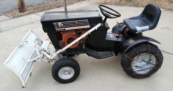 vintage 1968 sears suburban 12 lawn garden tractor with snow dirt blade running