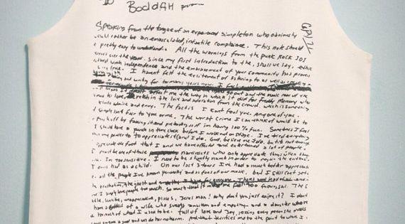 Suicide Note Of Kurt Cobain Nirvana Shirt White Tank Top