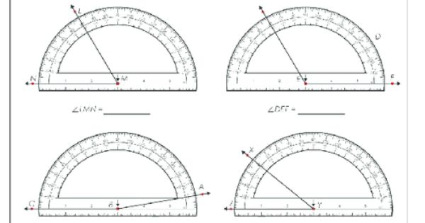 Using A Protractor 2 Protractor Free Worksheets And
