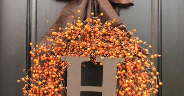 Hermosas coronas de oto o para tu casa decoraciones para for Decoracion puerta otono