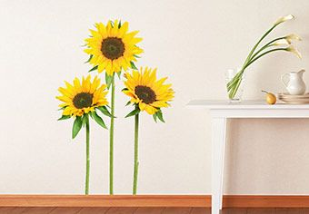 Sunflowers Wall Decal Beautiful Floral Home Decor Wall Decals