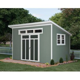 Shop Heartland Common 8 Ft X 12 Ft Interior Dimensions 7 5 Ft X 12 Feet Metropolitan Lean To Enginee Wood Storage Sheds Lowes Storage Sheds Backyard Sheds
