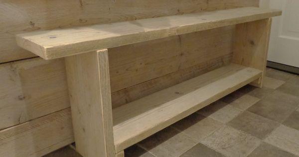 Halbankje steigerhout hall pinterest huis idee n voor het huis en idee n for Lay outs van het huis hal