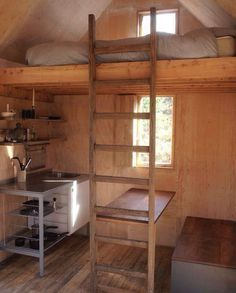 D O I T Y Ourself Zapd A House In A Shed Tiny Cabin Small Cabin Cabin Interiors