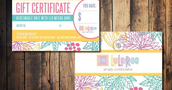 lularoe gift card lularoe gift certificate card by