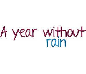 A Year Without Rain Font Machine Embroidery Monogramming Font Set Embroidery Monogram Fonts Embroidery Fonts Machine Embroidery
