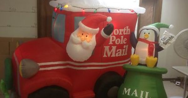 Gemmy Prototype Airblown Inflatable Christmas Animated Santa Mail Truck 87472 Ebay Santa Mail Mail Truck Gemmy