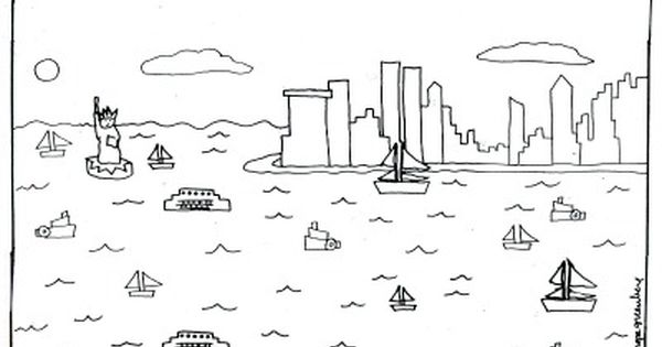new york city coloring page by melanie hope greenberg