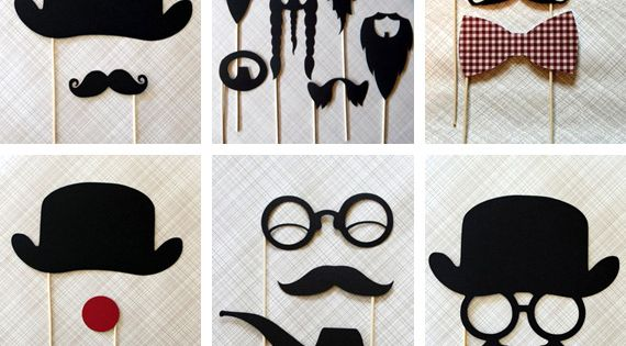 #fun photo booth props mustaches