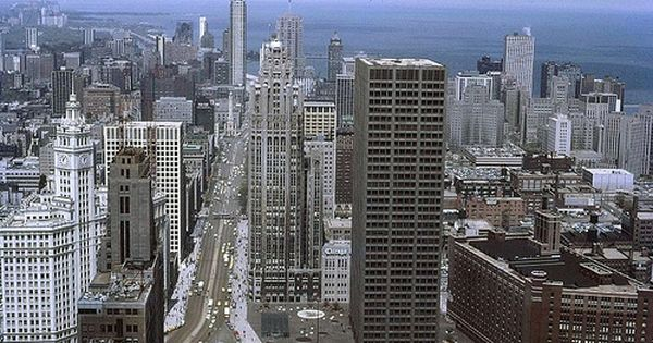Chicago 1967 From Top Of Building San Francisco Skyline Chicago