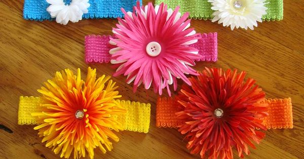 How to make Flower Headbands with Removable Flower Clips