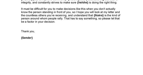 Character Reference Letter For A Judge - Hashdoc