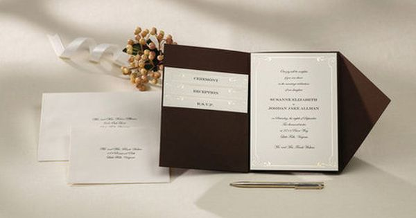 Ivory Wedding Invitation Kits: Wilton® Pocket Invitation Kit-Vintage Ivory