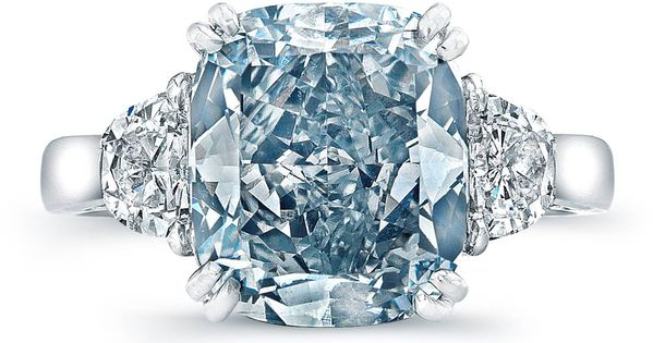 Gorgeous! A beautiful blue diamond engagement ring will make all your girlfriends
