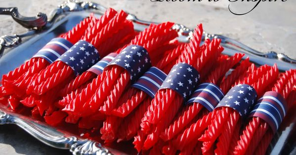 4th of July party! Also can be made with black licorice and