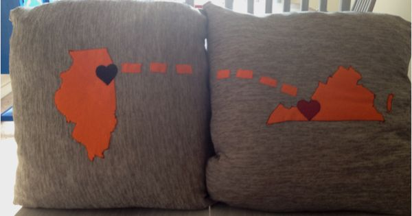 DIY pillows for livingroom couch. Matts deployment. Afghan & Maryland.