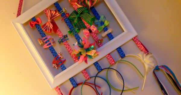 Picture frame hair accessory holder