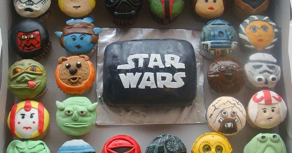 Star Wars cupcakes. StarWars food cupcake movies
