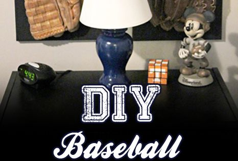 Diy Wall Art For Man Cave : Diy baseball glove wall art great for boy s room or man